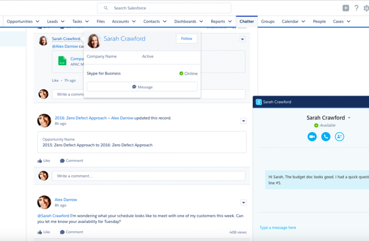 Skype for Salesforce now available in beta 5