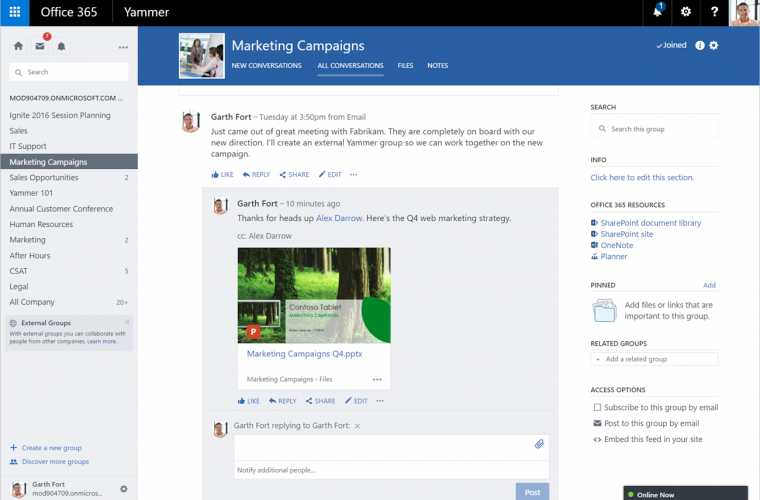 Microsoft to retire Yammer Enterprise stand-alone plan by January 2017 12