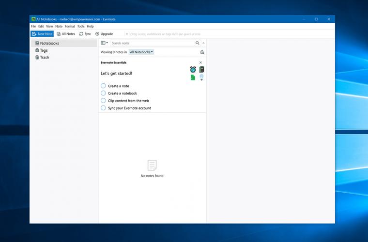 Evernote's Windows 10 app gets a big update 8