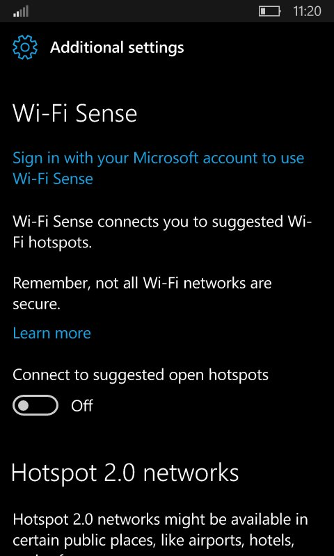 The next W10M Redstone 2 Insider built will bring a new WIFI settings page 4