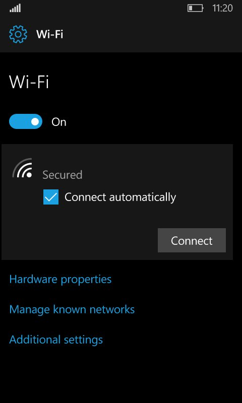 The next W10M Redstone 2 Insider built will bring a new WIFI settings page 1