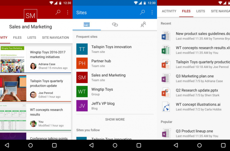 Microsoft starts testing SharePoint on Android 2