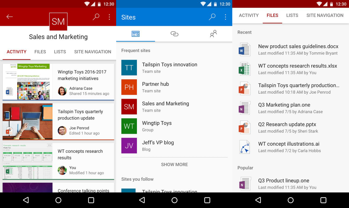 sharepoint for android