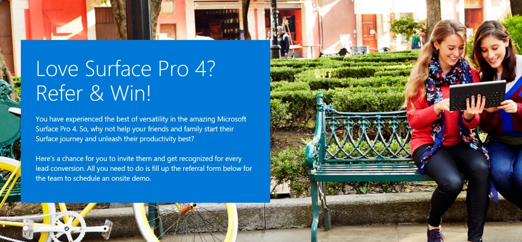 Microsoft seems to be working on a referral program for Surface