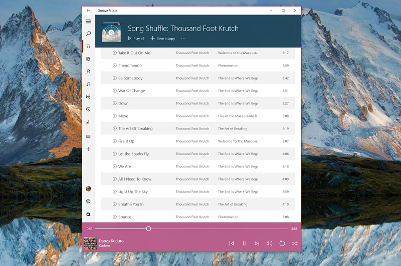 Groove's new update makes it easier to listen to music offline
