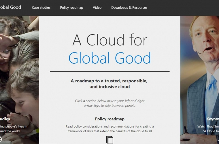 """Microsoft releases a book called """"A Cloud for Global Good"""" 4"""