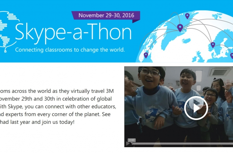 Microsoft is hosting a Global Education Skype-a-Thon on November 29th and 30th 14