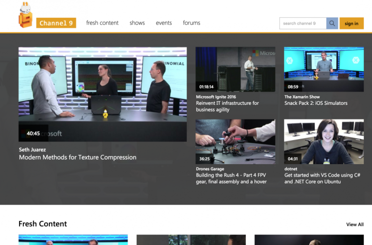 Microsoft is working on a new Windows 10 UWP app for Channel 9 1