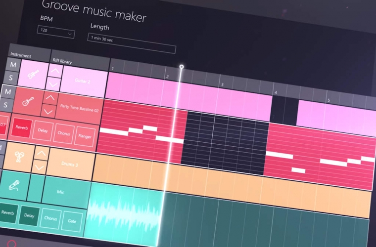 Groove Music Maker revealed in Microsoft's sizzle video 12