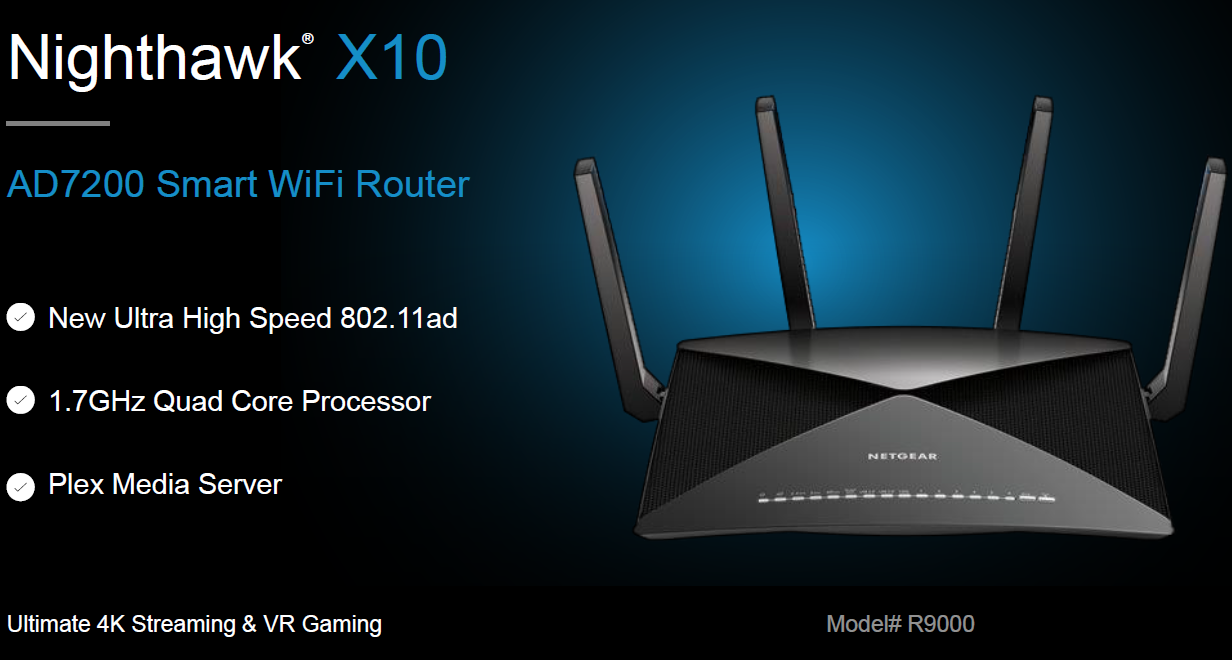 Netgear announces Nighthawk X10, the world's fastest router