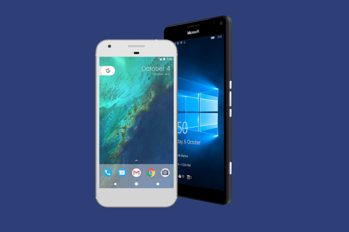specs comparison microsoft lumia 950 xl vs google pixel xl