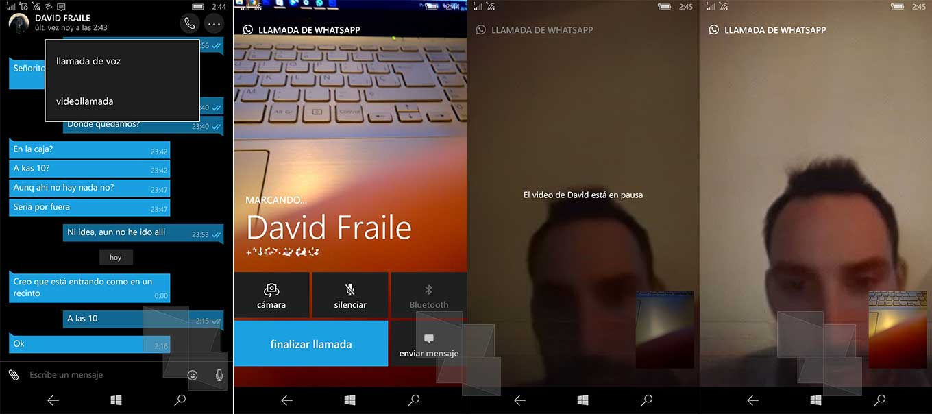 Video Calls activated in WhatsApp Beta for Windows Phone