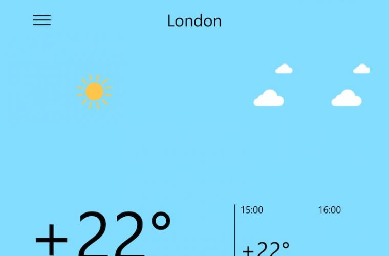 Yandex release their Yandex.Weather app for Windows Phone 5