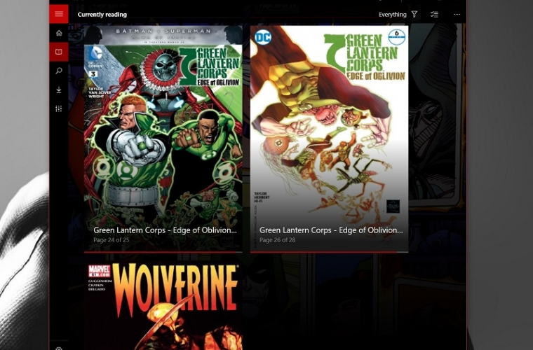 Cover is a well designed comics reader for Windows 10 and Windows 10 Mobile 7
