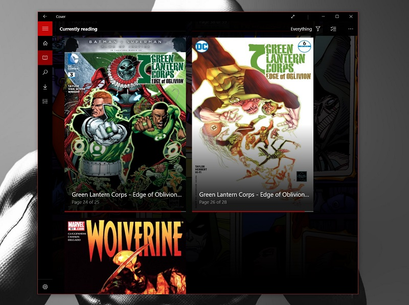 Cover is a well designed comics reader for Windows 10 and Windows 10 Mobile