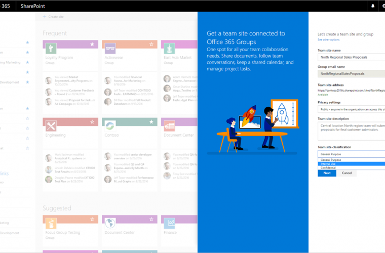 Microsoft begins roll-out of SharePoint team sites connected to Office 365 Groups 9