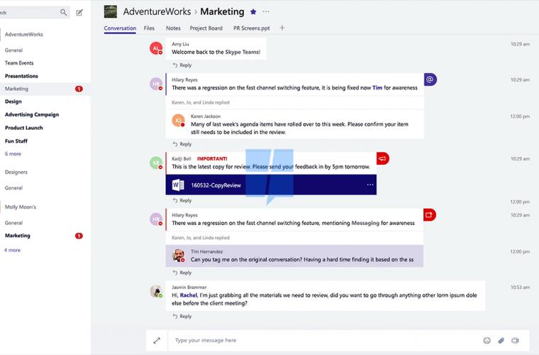 Screenshots of the Microsoft Teams iOS app emerge 1