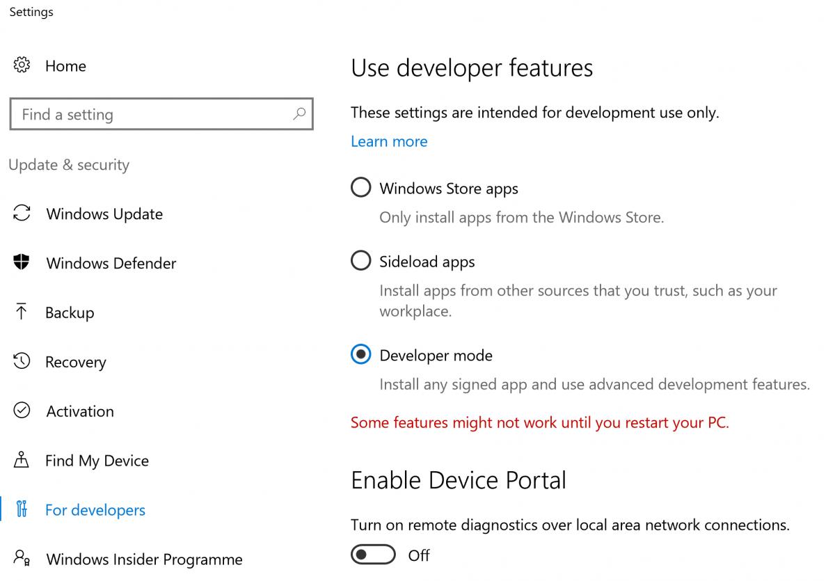developer-mode