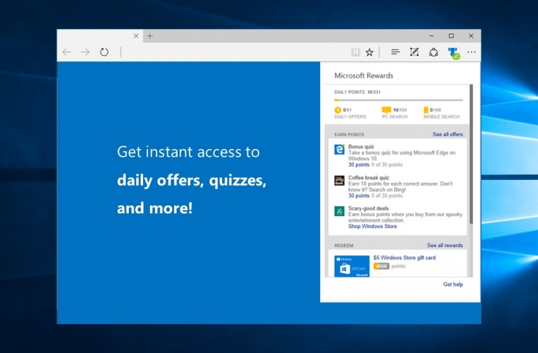 Microsoft releases a new Rewards extension for Edge 16