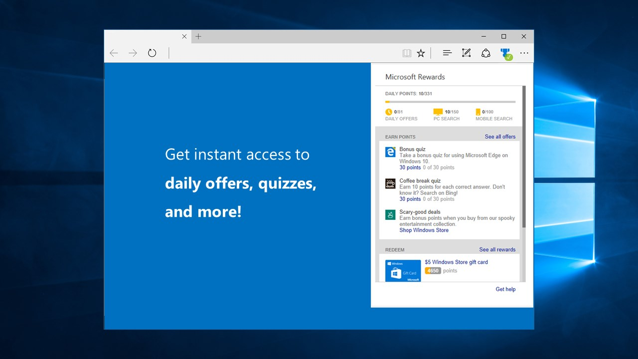 Microsoft releases a new Rewards extension for Edge