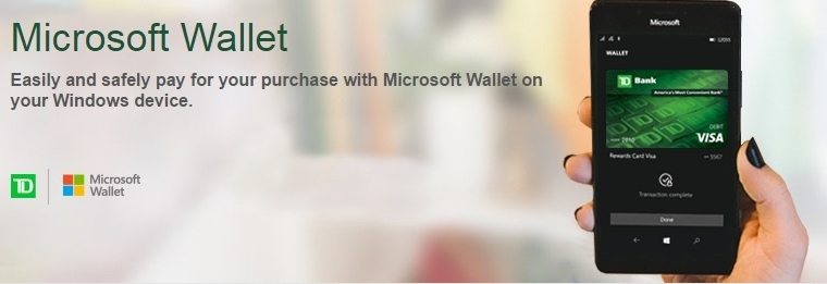 TD Bank the latest to add support for Microsoft Wallet contact-less payments 4