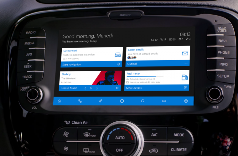 'Windows 10 in the Car' concept imagines a infotainment system powered by Windows 10 Mobile 24