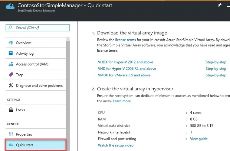You can now manage StorSimple Virtual Device Series in the new Azure portal 3