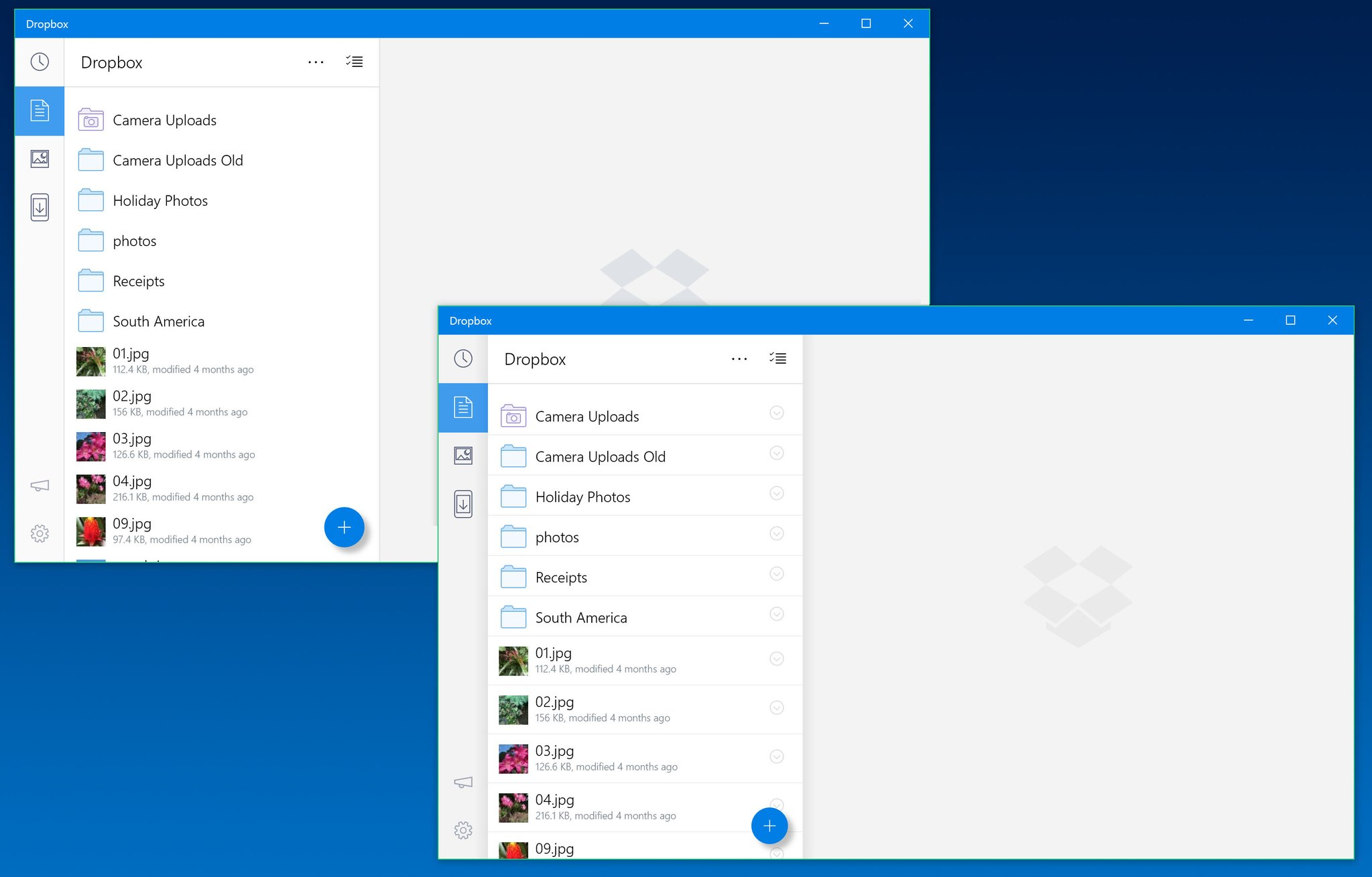 Dropbox for Windows 10 updated with a new design and the ability to set an image as wallpaper ...