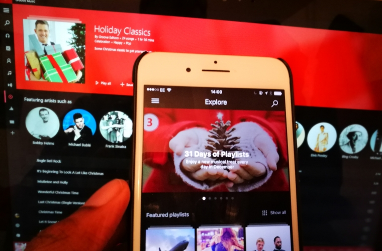 Just in time for Christmas, Microsoft brings Groove for iOS and Android up to par with Windows 10 22