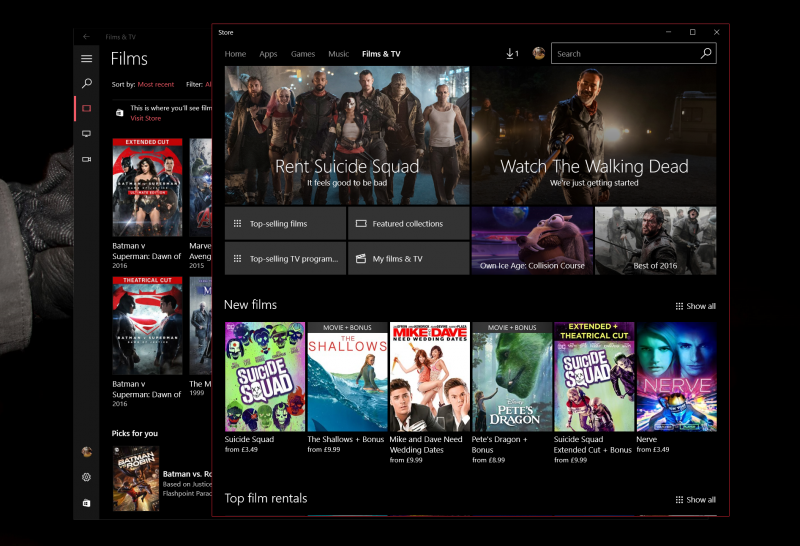 Microsoft's Films and TV app now lets you start videos in