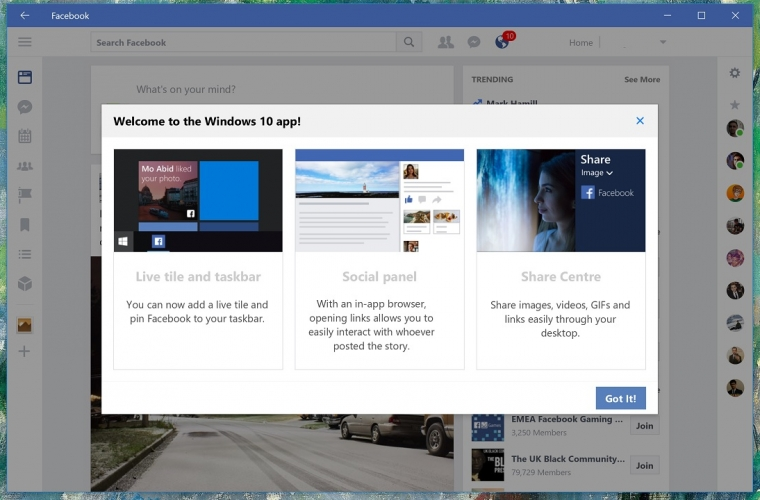 Facebook Beta for Windows 10 updated with new welcome screen 7
