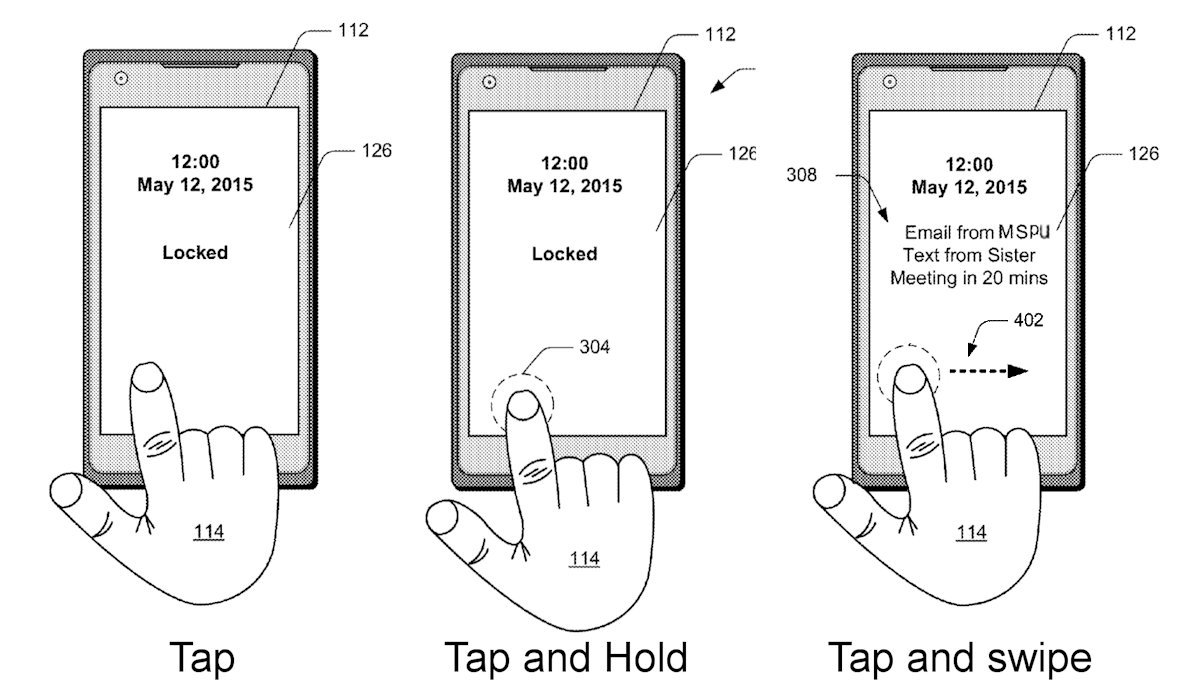 microsoft patents their own version of fingerprint scanner