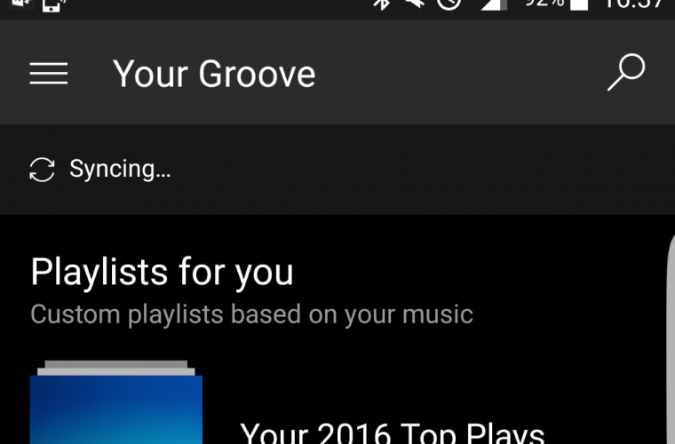 Groove Music picks up three new features on Android 18