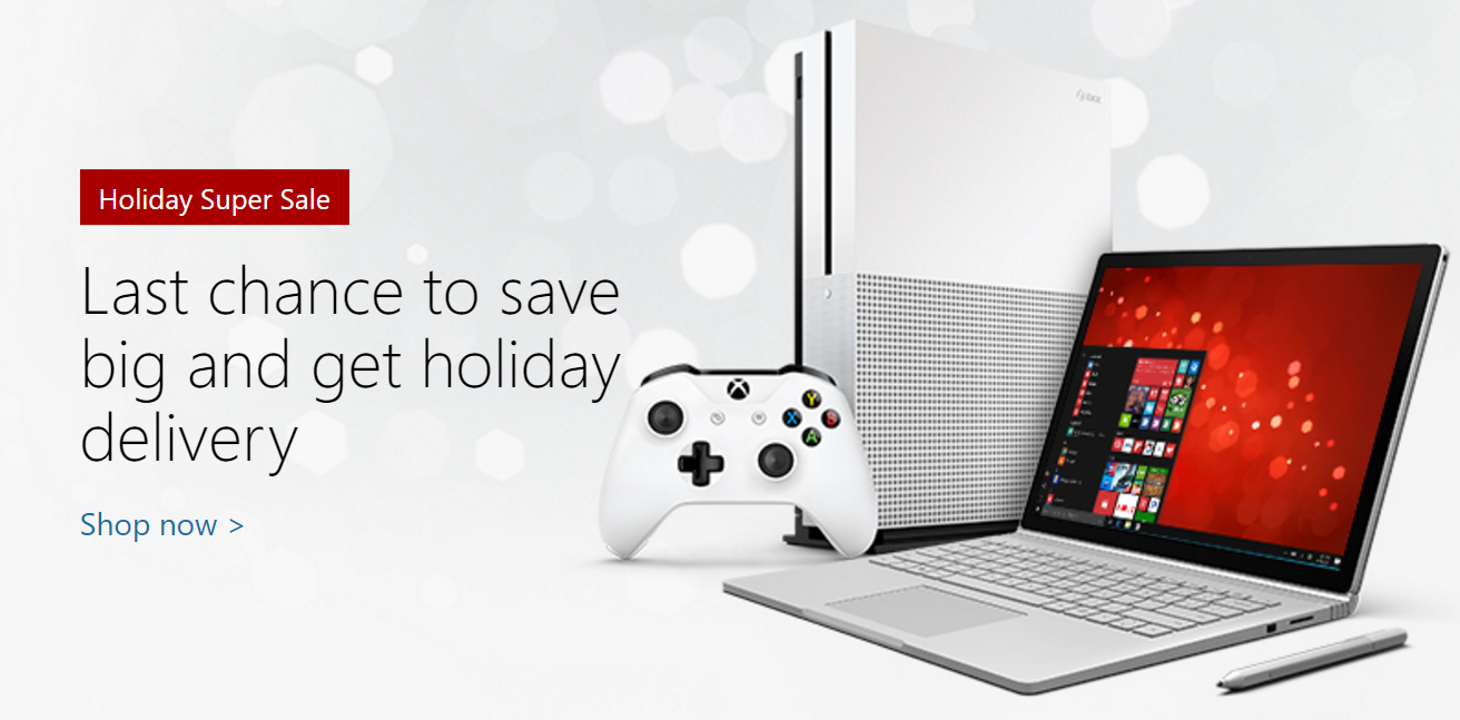 Microsoft Store Holiday Super Sale Offers Great Savings On Surface Book Pcs Xbox Games And More Mspoweruser
