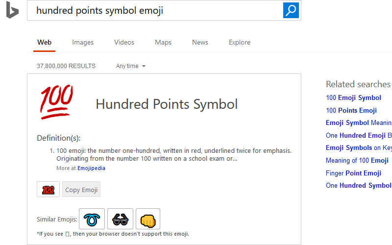 Bing Will Now Let You Search For And Copy Emojis Directly From Its