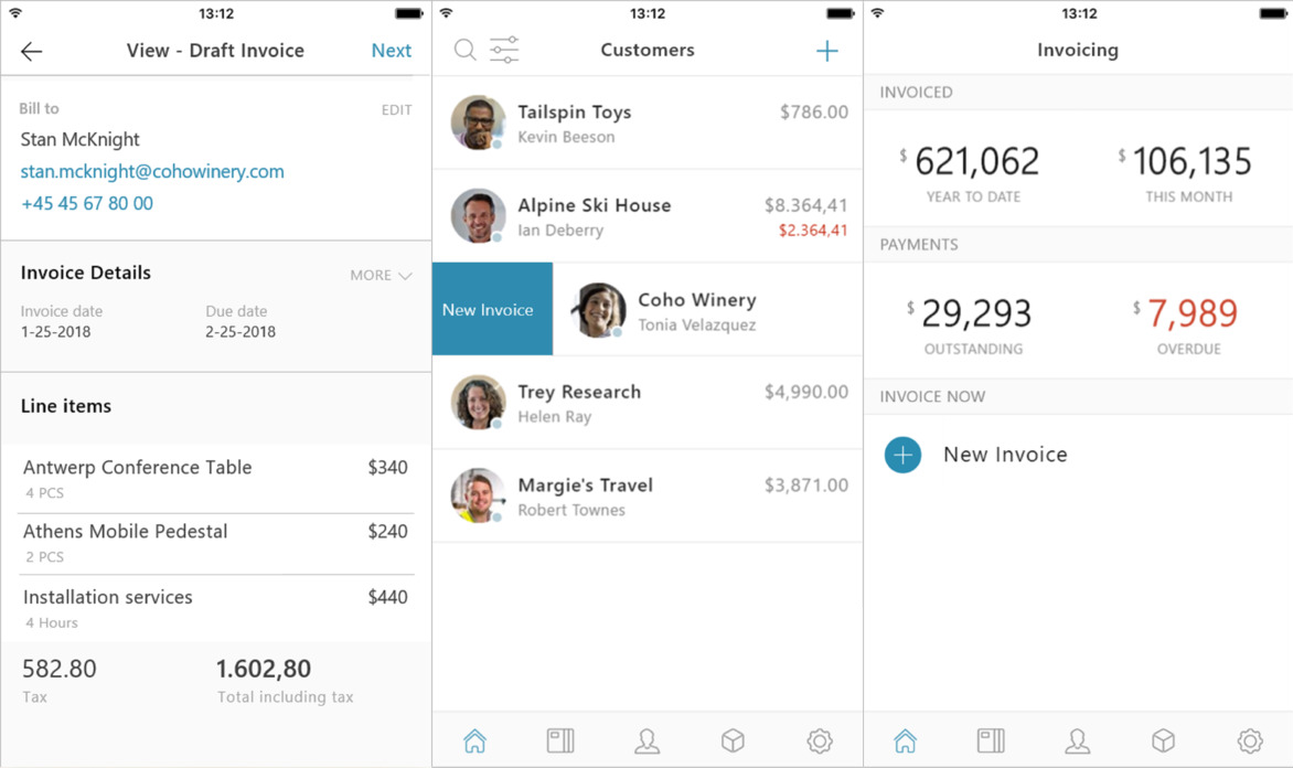 Microsofts Newest IOS Apps Aim To Help Small Businesses Grow - Microsoft invoice software