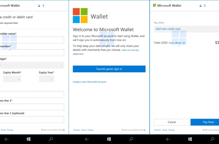 First look: Windows 10 Mobile's upcoming Web Payments feature aims to make payments on the web simpler 11