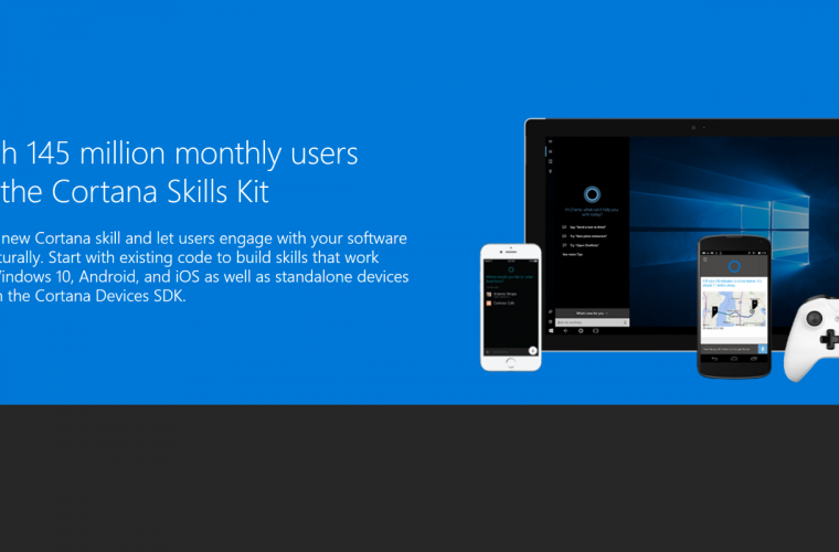Microsoft introduces new Cortana Skills kit in preview 8