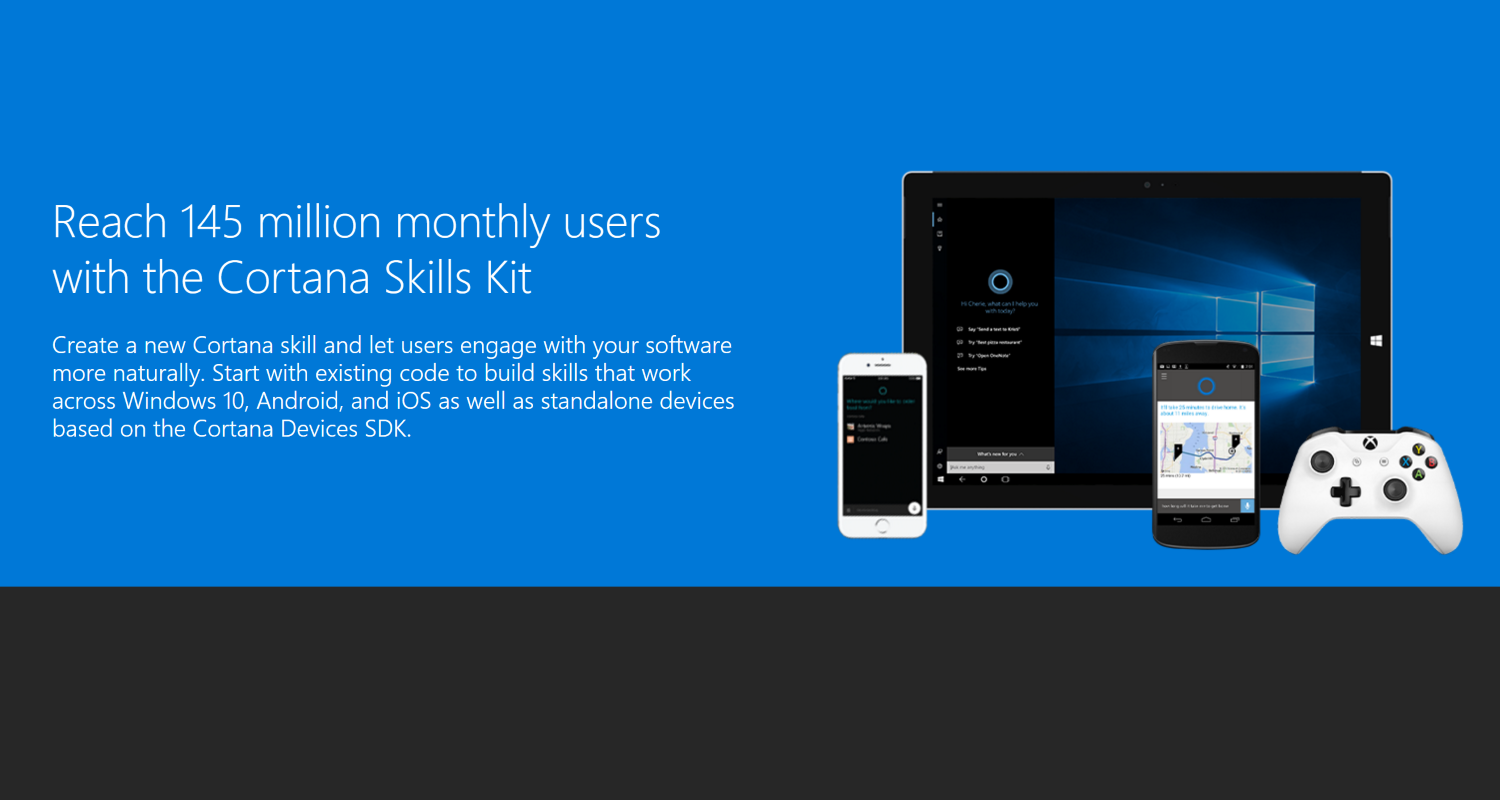 Microsoft introduces new Cortana Skills kit in preview 1