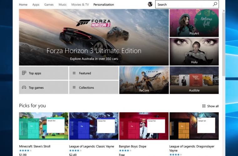 First set of Windows 10 themes show up on the Windows Store 11