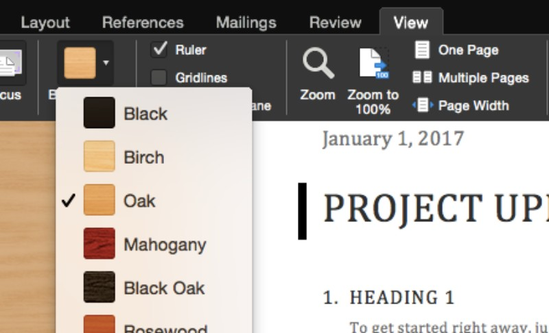 office for mac brings new background themes for the focus mode to