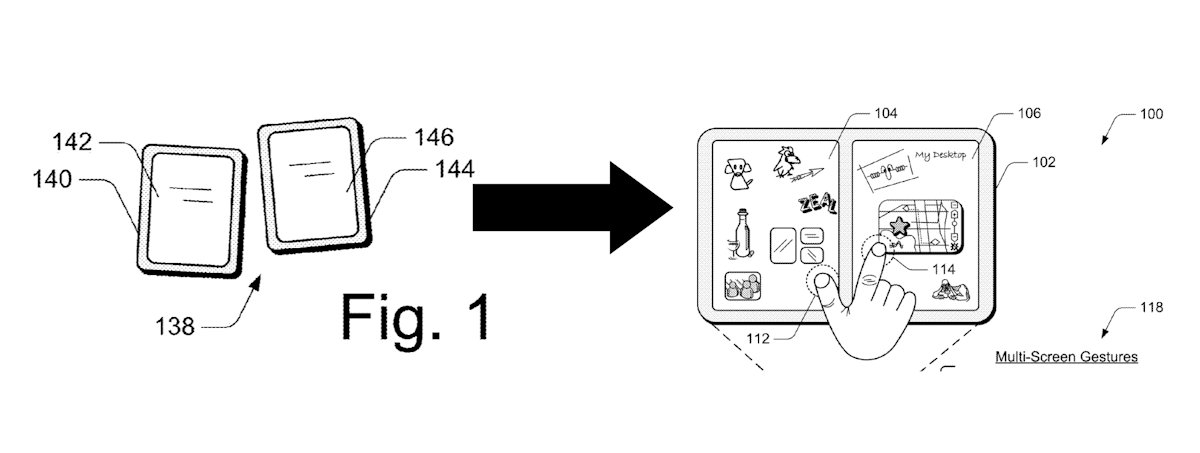 Microsoft renews multi-device combined screen patent 1