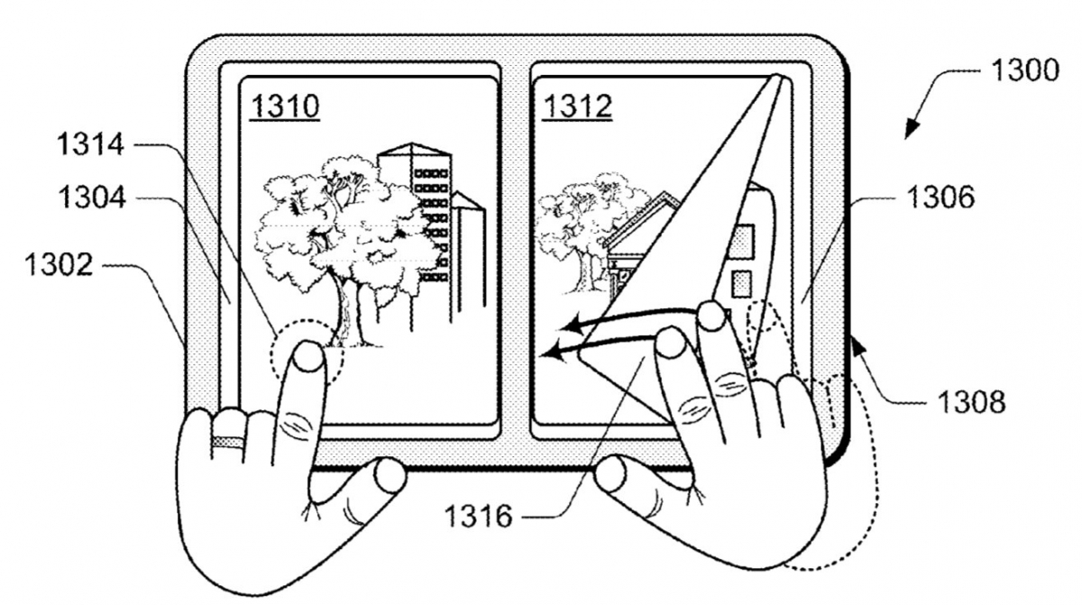 Microsoft renews multi-device combined screen patent 2
