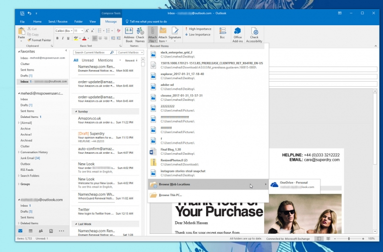 Outlook on Windows is getting 'real-time' collaboration for attachments 16