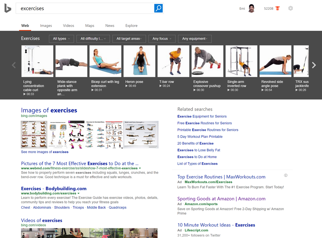 Bing announces new search features to help users meet their health and fitness goals 1