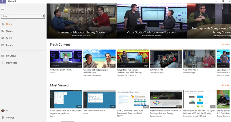 Microsoft releases a new Channel 9 UWP App - MSPoweruser