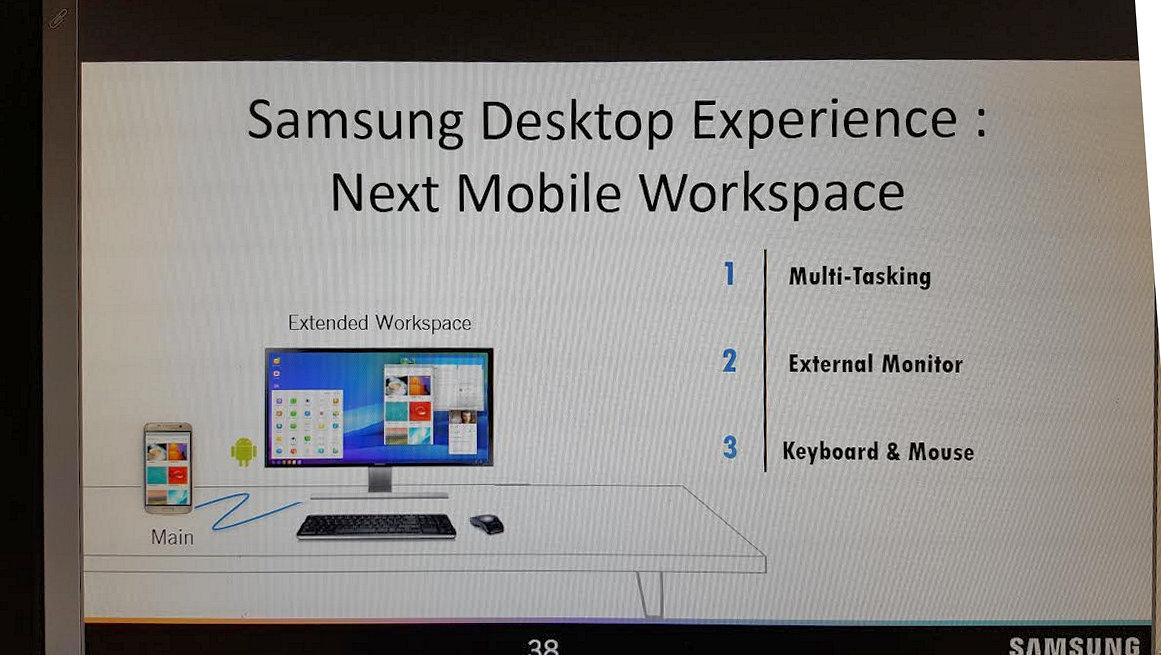 Samsung's Galaxy S8's Continuum-like desktop solution