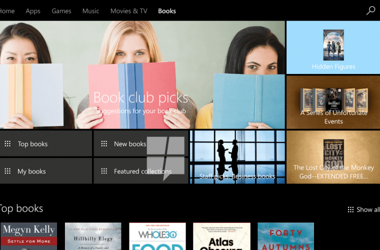 First look at Windows 10's upcoming store for e-books 7