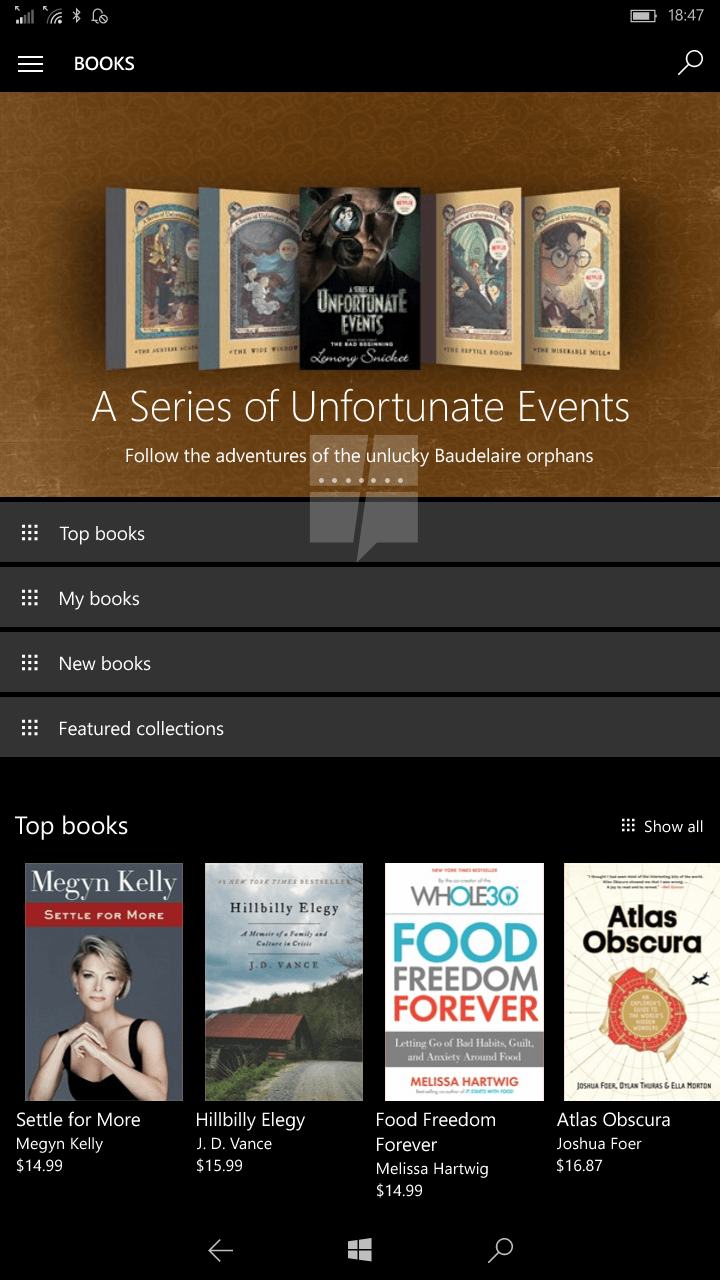 First look at Windows 10's upcoming store for e-books 3