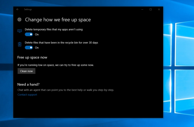 Windows 10 can now free up space on your PC automatically 10